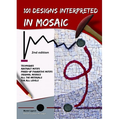 "Book "" 101 designs interpreted in mosaic "" with a CD"