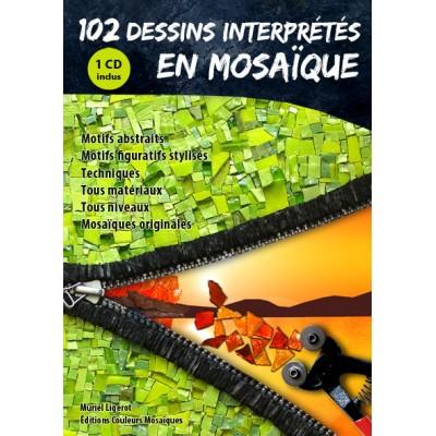 """Livre """" 102 dessins interprétés en mosaique """" avec CD"""
